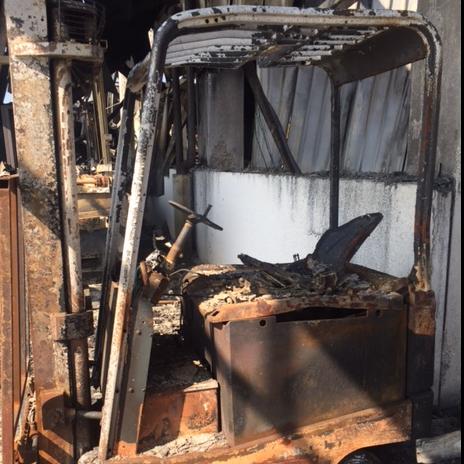 Incendio azienda ortofrutticola