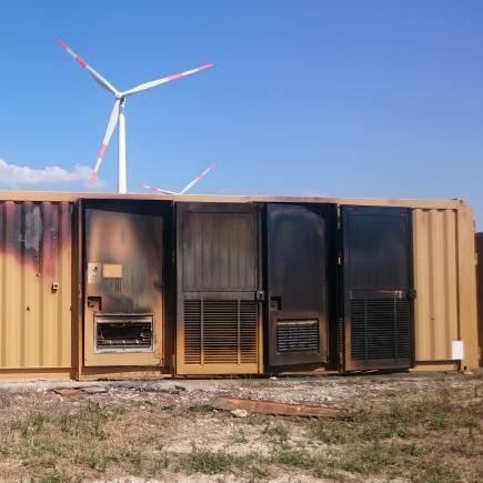 Incendio cabina elettrica